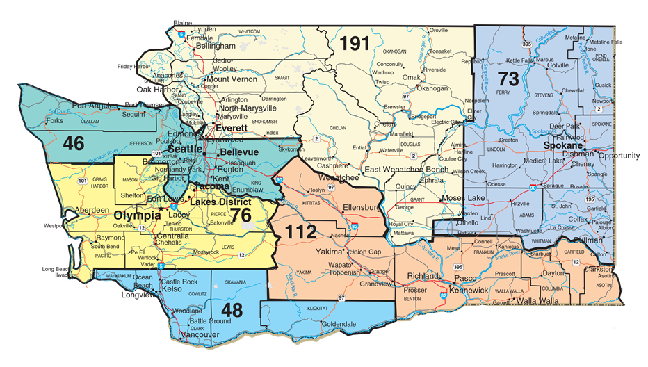 WA NECA Chapter Map | NECA Cascade Chapter